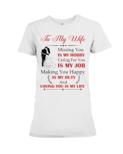 Make it the meaningful message to your wife Premium Fit Ladies Tee thumbnail