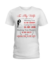 Make it the meaningful message to your wife Ladies T-Shirt tile