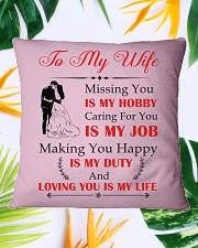 Make it the meaningful message to your wife Square Pillowcase aos-pillow-square-front-lifestyle-29