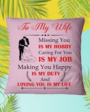 Make it the meaningful message to your wife Square Pillowcase aos-pillow-square-front-lifestyle-30