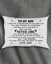 Make it the meaningful message to your son Rectangular Pillowcase aos-pillow-rectangle-front-lifestyle-1
