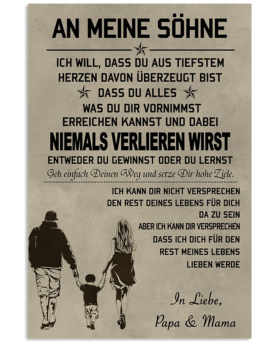 Make it the meaningful message to your sons DE 11x17 Poster