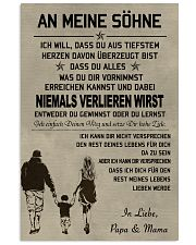 Make it the meaningful message to your sons DE 11x17 Poster front