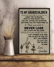Make it the meaningful message to your grandchild 11x17 Poster lifestyle-poster-3