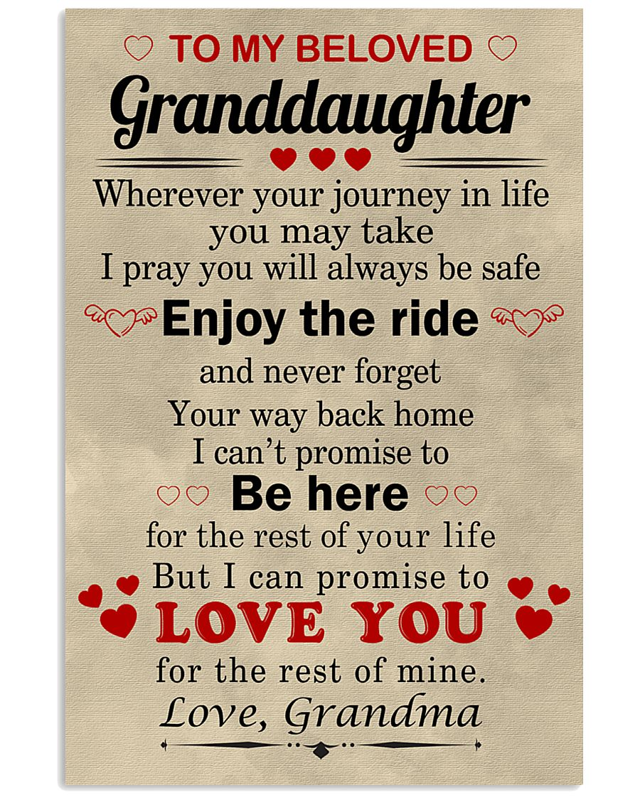 meaningful message to your granddaughter 11x17 Poster