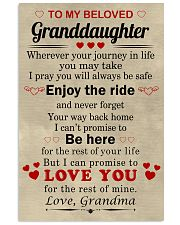 meaningful message to your granddaughter 11x17 Poster front
