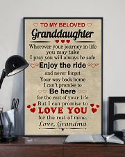 meaningful message to your granddaughter 11x17 Poster lifestyle-poster-2