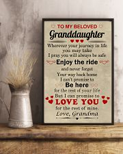meaningful message to your granddaughter 11x17 Poster lifestyle-poster-3