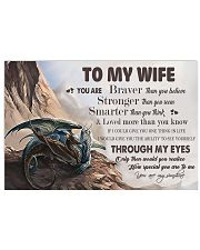 H31 Dragon poster - To my wife - You are braver 17x11 Poster front