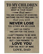 Make it the meaningful message to your children 11x17 Poster front