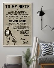 Make it the meaningful message to your niece 11x17 Poster lifestyle-poster-1