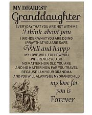 Make it the meaningful message to granddaughter 11x17 Poster front
