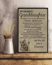 Make it the meaningful message to granddaughter 11x17 Poster lifestyle-poster-3