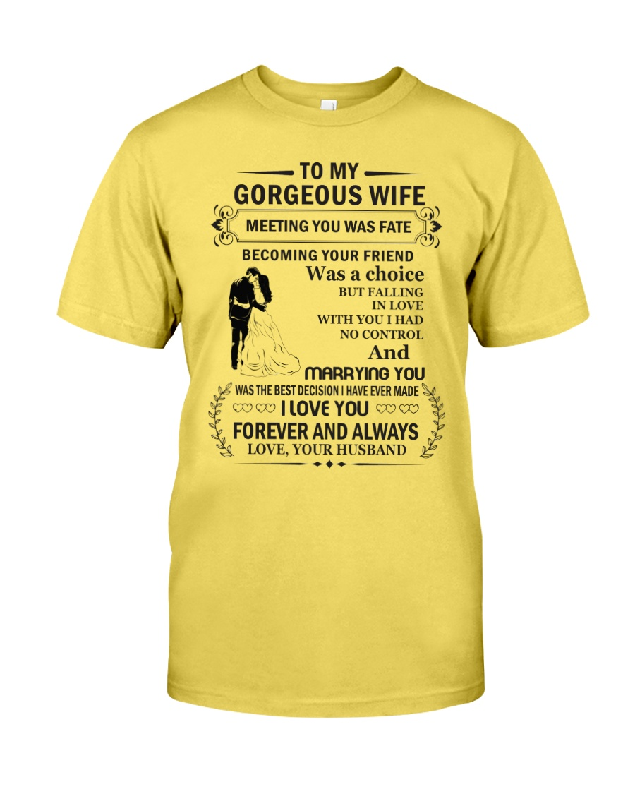 Make it the meaningful message to your wife Premium Fit Mens Tee