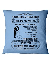Make it the meaningful message to your Husband Square Pillowcase front