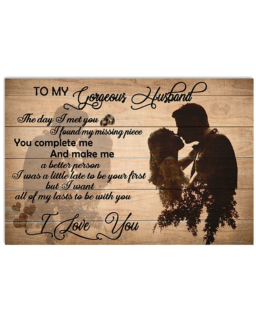 H24 Family poster - To my husband - I love you 17x11 Poster