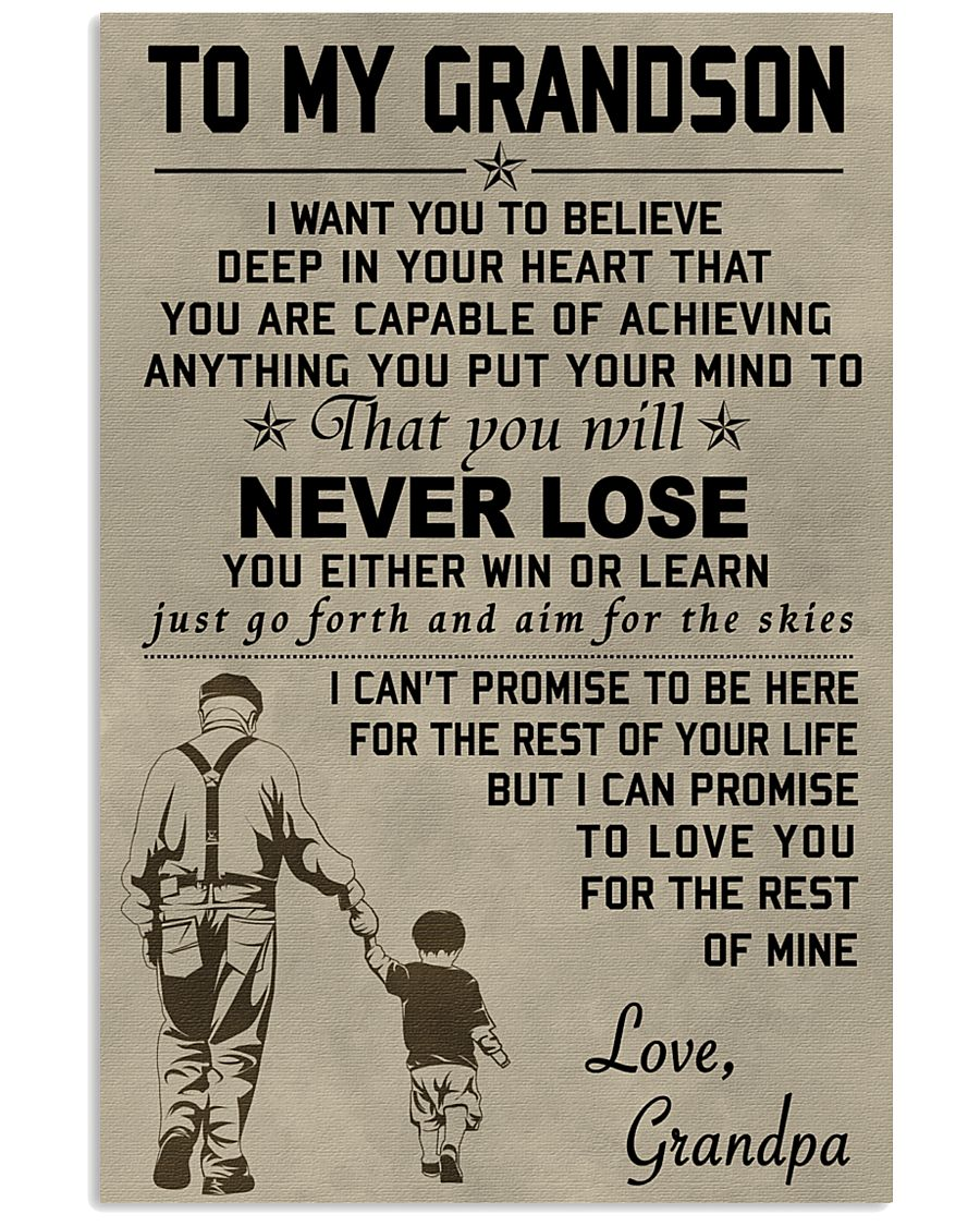 Make it the meaningful message to your grandson 11x17 Poster