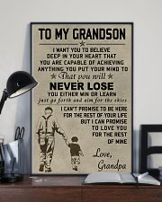 Make it the meaningful message to your grandson 11x17 Poster lifestyle-poster-2