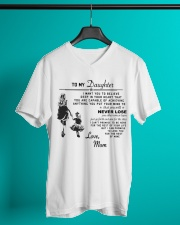 Make it the meaningful message to your daughter V-Neck T-Shirt lifestyle-mens-vneck-front-3