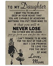 Make it the meaningful message to your daughter Vertical Poster tile