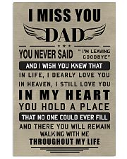 Make it the meaningful message to your dad 11x17 Poster front