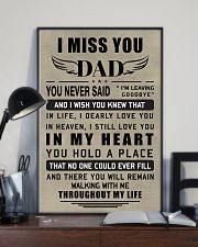 Make it the meaningful message to your dad 11x17 Poster lifestyle-poster-2