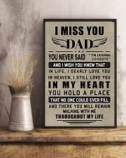 Make it the meaningful message to your dad 11x17 Poster lifestyle-poster-3