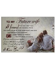 H20 Family poster - To my future wife - I love you 17x11 Poster front