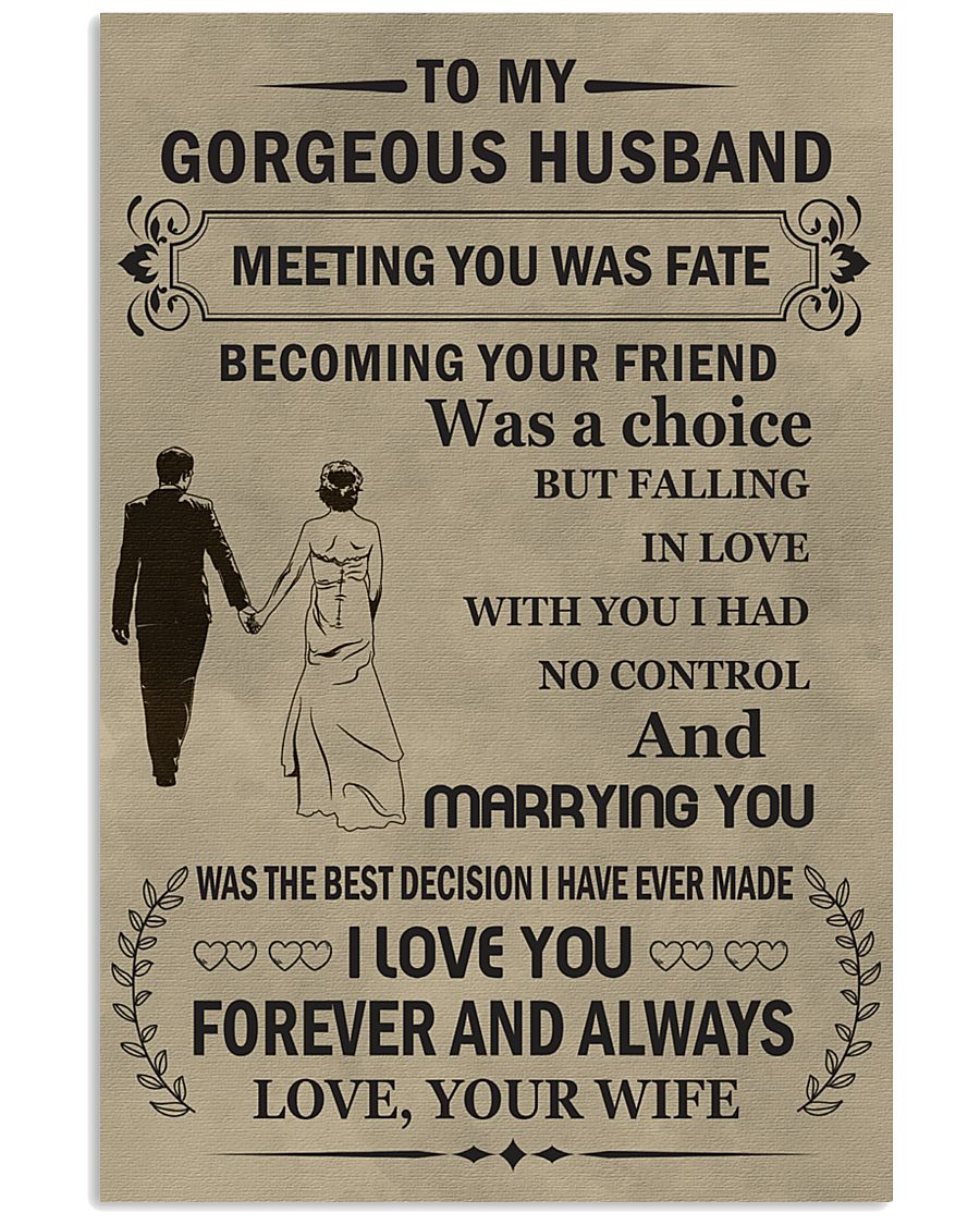 Make it the meaningful message to your husband 11x17 Poster