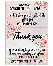 H12 Family poster - To my daughter-in-law 11x17 Poster front