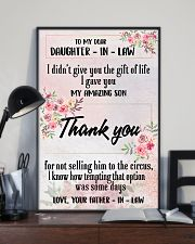 H12 Family poster - To my daughter-in-law 11x17 Poster lifestyle-poster-2