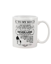 Make it the meaningful message to your son Mug tile