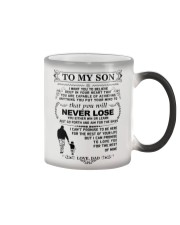 Make it the meaningful message to your son Color Changing Mug tile