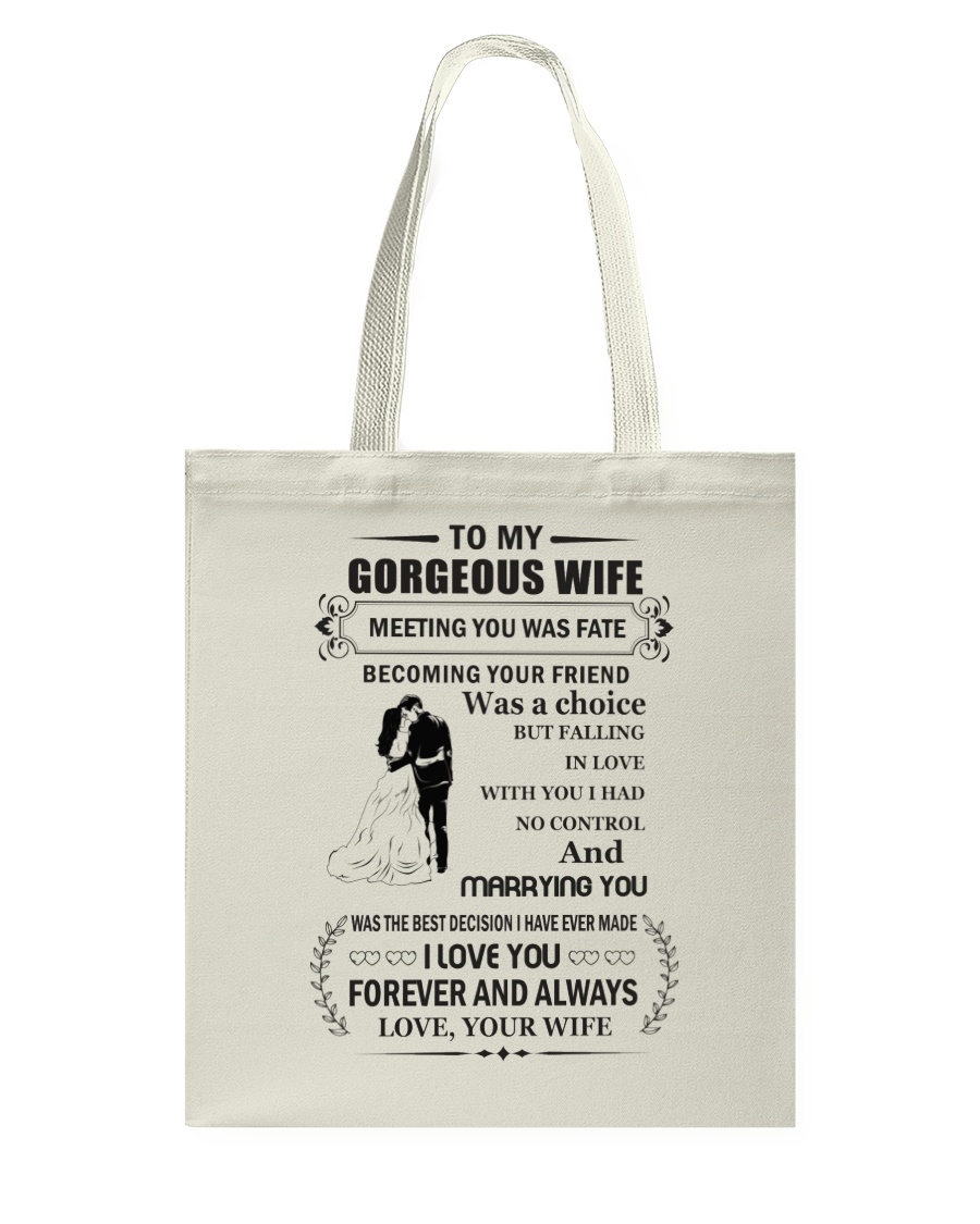 Make it the meaningful message to your wife Tote Bag
