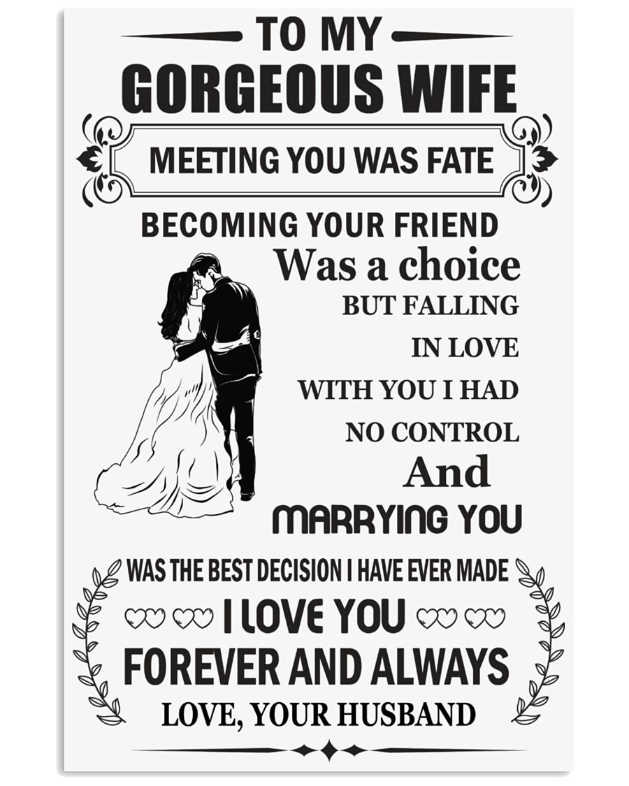 Make it the meaningful message to your wife 24x36 Poster