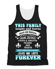 Make it the meaningful message to your family All-over Unisex Tank thumbnail