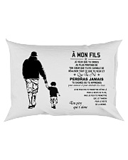 Make it the meaningful message to your son Rectangular Pillowcase back