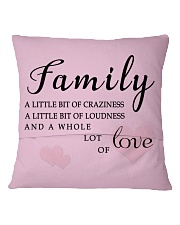 Make it the meaningful message to your family Square Pillowcase back