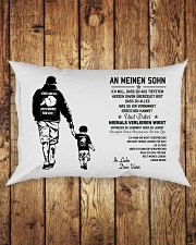 Make it the meaningful message to your son Rectangular Pillowcase aos-pillow-rectangle-front-lifestyle-2