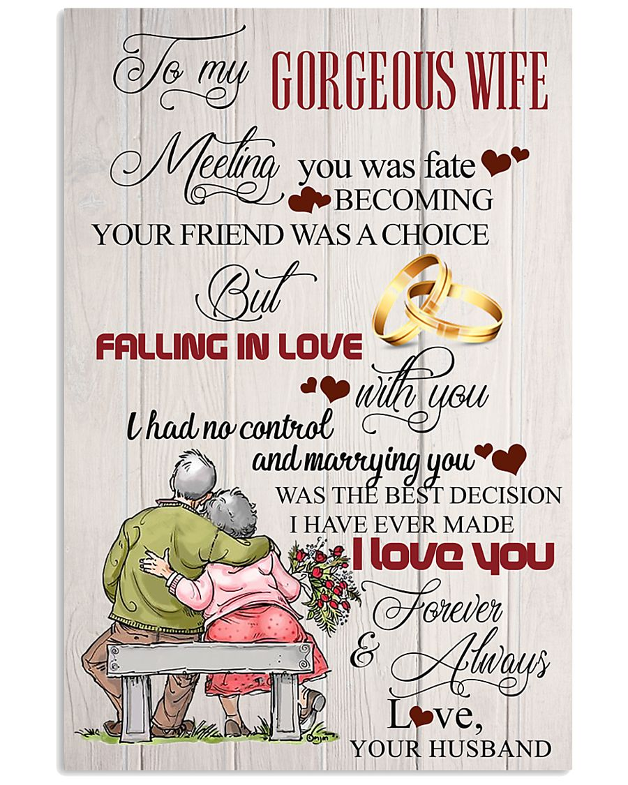 H14 Family poster - Husband to wife - I love you 11x17 Poster