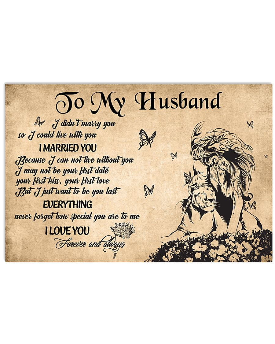 H35 Lion poster - To my husband - I married you 17x11 Poster