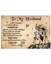 H35 Lion poster - To my husband - I married you 17x11 Poster front