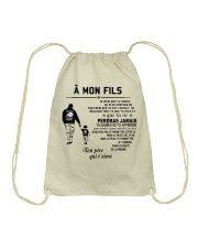 Make it the meaningful message to your son Drawstring Bag thumbnail