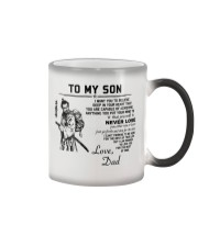 Make it the meaningful message to your son Color Changing Mug color-changing-right
