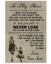 Make it a meaningful message to your niece 11x17 Poster front