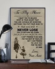 Make it a meaningful message to your niece 11x17 Poster lifestyle-poster-2