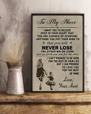 Make it a meaningful message to your niece 11x17 Poster lifestyle-poster-3