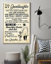Make it the meaningful message to granddaughter 11x17 Poster lifestyle-poster-1