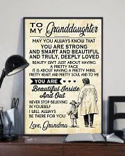 Make it the meaningful message to granddaughter 11x17 Poster lifestyle-poster-2