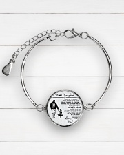 Make it the meaningful message to your daughter Metallic Circle Bracelet aos-bracelet-metal-front-lifestyle-2